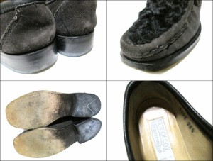 PATRICK COX wannabe パトリックコックス ワナビー「36 1/2」イタリア製 ファーレザーローファー (シューズ 靴 ブーツ) 084819