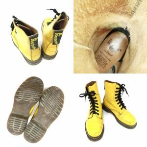 廃盤 vintage Dr.Martens ヴィンテージ ドクターマーチン イエロー 8ホール レザーブーツ (靴シューズ) 084978
