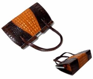 80's Vintage 80年代 ヴィンテージ クロコダイルレザーハンドバッグ 088222