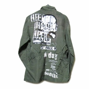 HN+DAI h.NAOTO エイチ+ダイ エイチナオト イタリア軍リメイクジャケット (ブルゾン コート) 088775