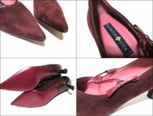 新品同様 PATRICK COX パトリックコックス「38 1/2」イタリア製 スエードレザーヒールパンプス (皮 革 靴 シューズ) 090266