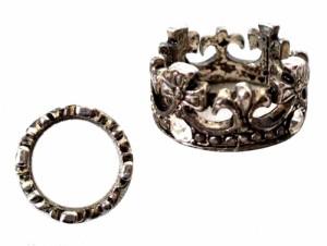 Gothic ゴシック「19」クラウン宝飾リング (指輪) 091477