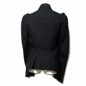 新品同様 Yohji Yamamoto ヨウジヤマモト「1」ショルダープリーツジャケット (黒 Y's ワイズ 山本耀司) 095302