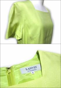 美品 LANVIN ランバン「40」ライトグリーンワンピース (定番) 095402