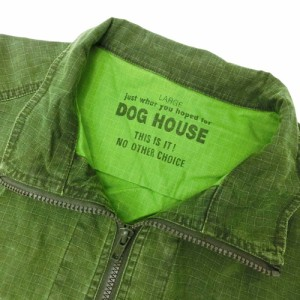 DOG HOUSE ドッグハウス「L」フルジップアーミーシャツ (半袖) 095841