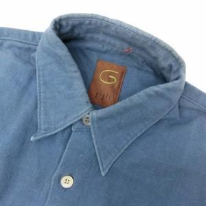 Gigli by Romeo Gigli ロメオジリ「M」ネイビーコットンシャツ (長袖 紺) 095842