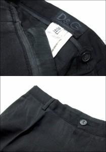 D&G ディーアンドジー「30/44」イタリア製 ギャバジンパンツ (黒 Dolce&Gabbana ドルチェ&ガッバーナ) 096430