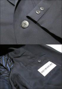 ISSEY MIYAKE MEN イッセイミヤケ メン「L」2Bギャバジンセットアップスーツ (濃紺 80年代ヴィンテージ) 098129