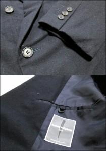 ISSEY MIYAKE MEN イッセイミヤケ メン「L」ダブルブレスセットアップスーツ (濃紺 80年代ヴィンテージ) 098132