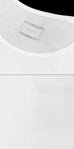 難有 [SALE] LE CIEL BLEU  ル シェルブルー「38」白 ストレッチ Tシャツ (長袖 ストレッチ ロング) 098799
