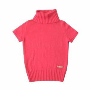 美品 Viaggio Blu ビアッジョブルー ハイネックニットセーター (ピンク 半袖 ) 101014
