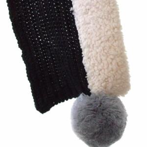 【新品】 KLING クリング マフラー付きニットキャップ (黒 帽子 ) 101016