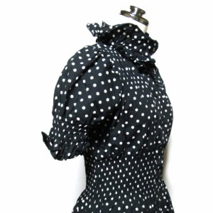 SEXY DYNAMITE LONDON セクシー ダイナマイト ロンドン「1」シャーリングドットワンピース (黒 セクダイ 水玉) 101151