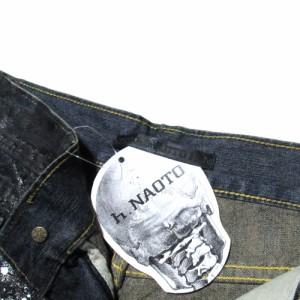 【新品】 h.NAOTO エイチナオト コーティングサルエルショートデニムパンツ (ハーフパンツ 29P106) 101498
