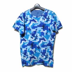 beauty:beast also ビューティービースト オルソー「2」デジタル迷彩Tシャツ (白 半袖 青 カモフラージュ ユニセックス) 101973