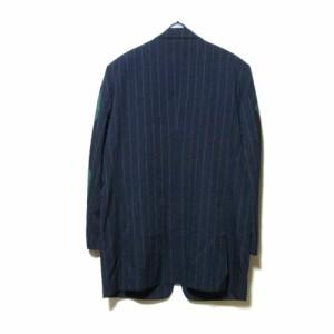 美品 ISSEY MIYAKE  イッセイミヤケ「M」袖切り替えジャケット (三宅一生 MEN メン 紺 ネイビー) 103039
