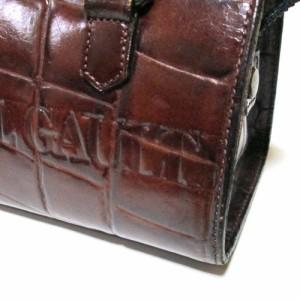 廃盤 Jean Paul GAULTIER ジャンポールゴルチエ クロコダイルレザーボストンバッグ (ゴルチェ 茶色 皮 革 鞄 ハンドバッグ) 103095