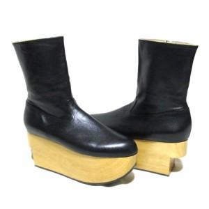 【新品】 Vivienne Westwood ヴィヴィアンウエストウッド「4」ロッキンホースブーツ (展示品 未使用 黒 レザー 革 皮) 103401