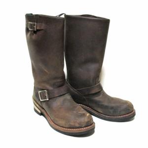 Getta Grip Dr.Martens ゲッタグリップ ドクターマーチン「UK6」オイルドレザーエンジニアブーツ (茶色 ロング 靴 シューズ) 103477