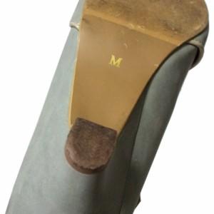 axes femme アクシーズファム「M」リボンレザーパンプス ヘッドドレス付 (ブルー 靴 シューズ ヒール カチューシャ付) 103651