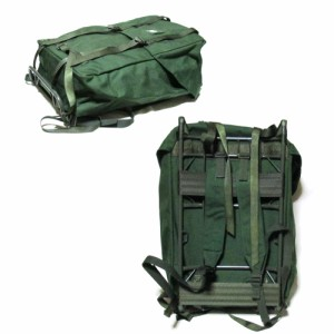 【新品】 SWEDEN Military スウェーデン軍 フレーム付きバックパック (カーキ リュックサック バッグ 鞄) 104005
