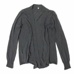 美品 MUJI 無印良品「S」コットンニットカーディガン (グレー) 104571