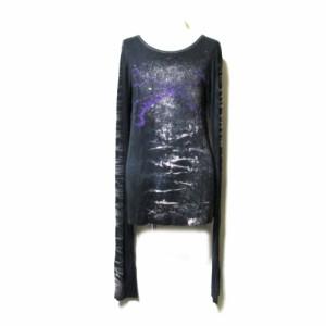 Hn+DAI h.NAOTO エイチナオト アナキーカットソー (黒 ロンTシャツ 長袖) 106017