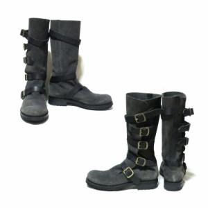 Vivienne Westwood MAN ヴィヴィアンウエストウッド マン「UK10」イタリア製 レザーパイレーツブーツ (皮 革 靴 ロングブーツ) 107288