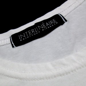 INTERLINEAIRE アンテルリネエール 切替デザインロンTシャツ (白 長袖 宮本昌次 日本製 Made in Japan) 108404