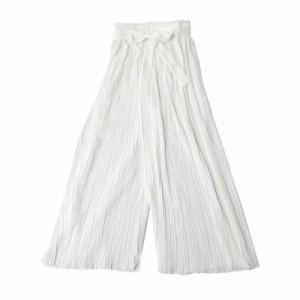【新品】 PARK GIRL パークガール プリーツワイドパンツ (白) 109543