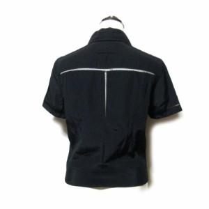 Jean Paul GAULTIER ジャンポールゴルチエ「40」ライダースブラウス (黒 ゴルチェ 半袖 シャツ フルジップ) 109602