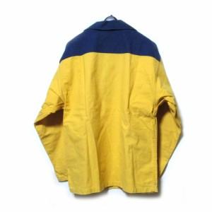 LE GLAZIK ル・グラジック「46」フランス製セーラーシャツ プルオーバージャケット (イエロー 紺 ネイビー 稀少カラー) 109958