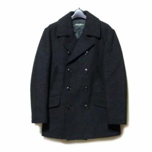 Eddie Bauer エディーバウアー「XS」定番ヘビーウールピーコート (黒 Pコート ジャケット) 110483
