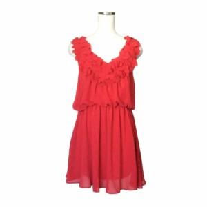 1df3da8d2ffbe 美品 Limitless Luxury リミットレス ラグジュアリー ハートフリルワンピース (赤 ドレス パーティ フォーマル ラブ