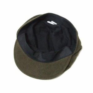 美品 MUJI 無印良品 ウールワークキャップ (カーキ 帽子 ムジ) 110816