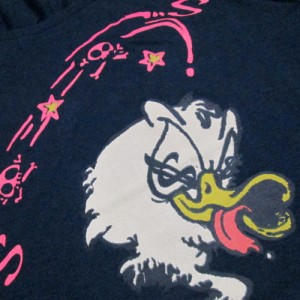 美品 beauty:beast ビューティー ビースト  アナーキーTシャツ (黒 アヒル 半袖 パンク) 111086