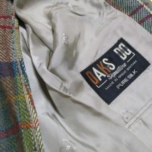美品 DAKS ダックス「12」イギリス製 タータンチェックシルクジャケット (3B 英国製 ブレザー) 111095