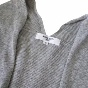 美品 NATURAL BEAUTY BASIC ナチュラルビューティベーシック ロングニットカーディガン (グレー コート ジャケット) 111799