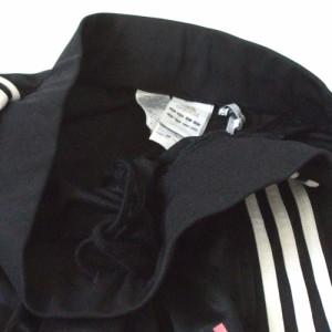 美品 adidas アディダス 3本ラインジャージパンツ (黒 ブラック 白) 112303