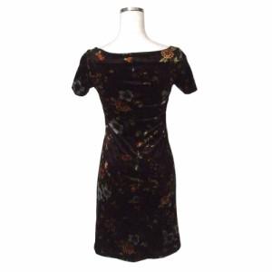 c920fff623d9e Betsey Johnson ベッツィジョンソン フラワーパターンワンピース (黒 花柄 ドレス) 112859 中古