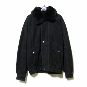9eca24299ceb7 ARAMIS アラミス「L」ヌバックレザーブルゾン.コート (革 皮 ジャケット ブルゾン ファー