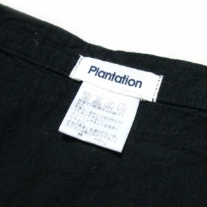 Plantation プランテーション「M」アシンメトリーラップスカート (黒 ロング ) 113484