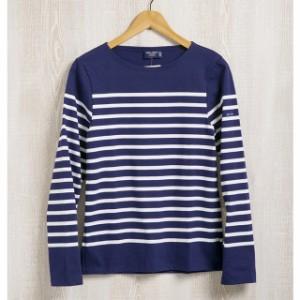 セントジェームス 長袖Tシャツ ユニセックス メンズ レディース ネイビー ボーダー ボートネック おしゃれ カットソー ブランド