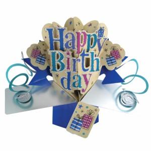 バースデーカード 誕生日 ポップアップカード おもしろ お洒落 子供 かっこいい 30歳 3歳 メッセージ入り 絵葉書 グリーティングカード