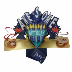 バースデーカード おもしろバースデーカード グリーティングカード 誕生日 3Dポップアップカード メッセージカード おしゃれ かわいい