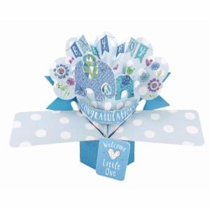 ポップアップカード グリーティングカード ウェディング 結婚祝い カード 出産祝い 男 新生児 ベビー 出産のお祝い プレゼント おしゃれ