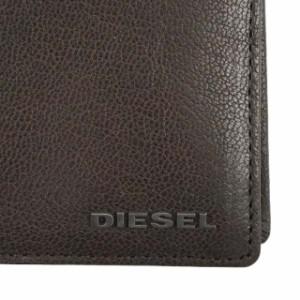 ディーゼル DIESEL 財布 X03925 PR271 T2189 HIRESH S 二つ折り財布 SEAL BROWM ダークブラウン系
