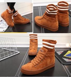 ソックスブーツ  ブーツ  スニーカー シューズ  ムートンブーツ ファー  フラットヒール ショットブーツ lyx xz-170928-11
