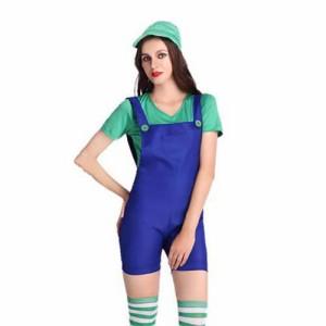 ハロウィン お揃い おもしろ 仮装 双子コーデ キャラクター ハロウィン衣装 レディース 仮装cos cos-w cos-krk wsc-170809-164