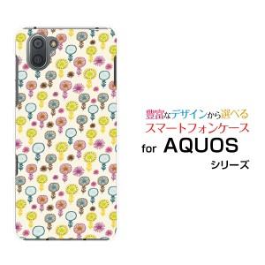 AQUOS R3 [SH-04L SHV44] アクオス アールスリー ハードケース/TPUソフトケース 花模様 /送料無料
